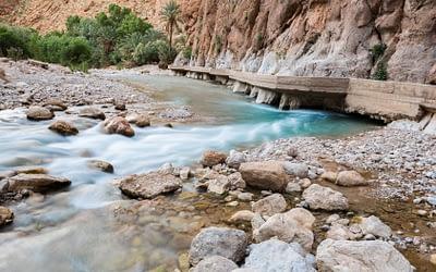 Tinerhir oasis and Todra canyon